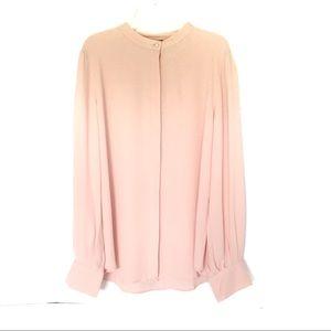 Ann Taylor | Pink Long Sleeve Button Down Blouse M